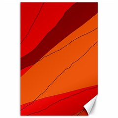 Red And Orange Decorative Abstraction Canvas 12  X 18   by Valentinaart