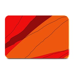 Red And Orange Decorative Abstraction Plate Mats by Valentinaart