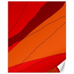 Red And Orange Decorative Abstraction Canvas 11  X 14   by Valentinaart