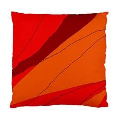 Red And Orange Decorative Abstraction Standard Cushion Case (two Sides) by Valentinaart