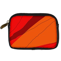 Red And Orange Decorative Abstraction Digital Camera Cases by Valentinaart