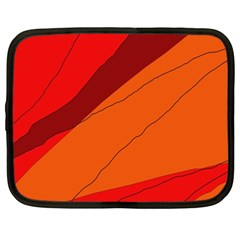 Red And Orange Decorative Abstraction Netbook Case (xxl)  by Valentinaart