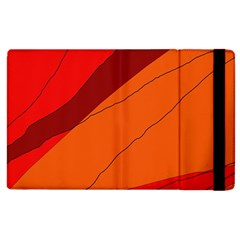 Red And Orange Decorative Abstraction Apple Ipad 3/4 Flip Case by Valentinaart