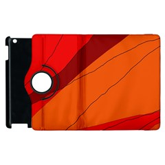Red And Orange Decorative Abstraction Apple Ipad 3/4 Flip 360 Case by Valentinaart
