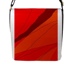 Red And Orange Decorative Abstraction Flap Messenger Bag (l)  by Valentinaart
