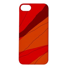 Red And Orange Decorative Abstraction Apple Iphone 5s/ Se Hardshell Case by Valentinaart