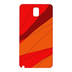 Red And Orange Decorative Abstraction Samsung Galaxy Note 3 N9005 Hardshell Back Case by Valentinaart