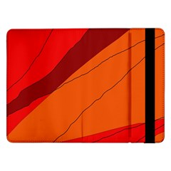 Red And Orange Decorative Abstraction Samsung Galaxy Tab Pro 12 2  Flip Case by Valentinaart