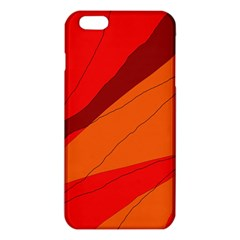 Red And Orange Decorative Abstraction Iphone 6 Plus/6s Plus Tpu Case by Valentinaart