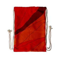 Red And Orange Decorative Abstraction Drawstring Bag (small) by Valentinaart
