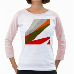 Decorative Abstraction Girly Raglans by Valentinaart