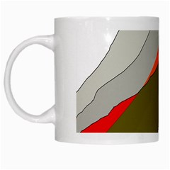 Decorative Abstraction White Mugs by Valentinaart