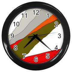 Decorative Abstraction Wall Clocks (black) by Valentinaart