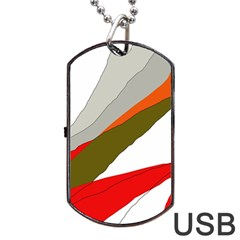 Decorative Abstraction Dog Tag Usb Flash (one Side) by Valentinaart