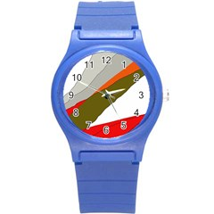 Decorative Abstraction Round Plastic Sport Watch (s) by Valentinaart