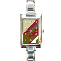 Decoratve Abstraction Rectangle Italian Charm Watch by Valentinaart
