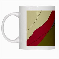 Decoratve Abstraction White Mugs by Valentinaart