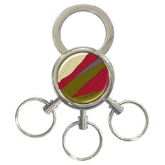 Decoratve Abstraction 3 Ring Key Chains by Valentinaart