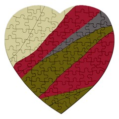 Decoratve Abstraction Jigsaw Puzzle (heart) by Valentinaart