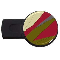 Decoratve Abstraction Usb Flash Drive Round (4 Gb)  by Valentinaart