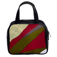 Decoratve Abstraction Classic Handbags (2 Sides) by Valentinaart