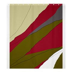 Decoratve Abstraction Shower Curtain 66  X 72  (large)  by Valentinaart
