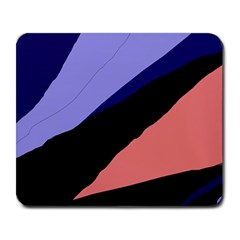 Purple And Pink Abstraction Large Mousepads by Valentinaart