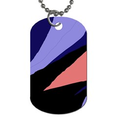 Purple And Pink Abstraction Dog Tag (two Sides)
