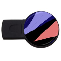 Purple And Pink Abstraction Usb Flash Drive Round (2 Gb)