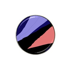 Purple And Pink Abstraction Hat Clip Ball Marker (4 Pack) by Valentinaart