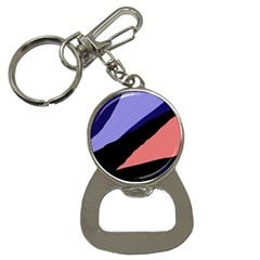 Purple And Pink Abstraction Bottle Opener Key Chains by Valentinaart
