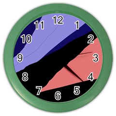 Purple And Pink Abstraction Color Wall Clocks by Valentinaart