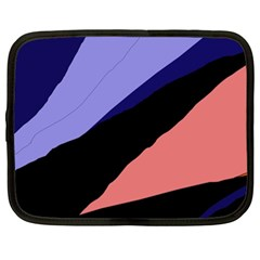 Purple And Pink Abstraction Netbook Case (xl)  by Valentinaart