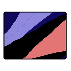 Purple And Pink Abstraction Fleece Blanket (small) by Valentinaart