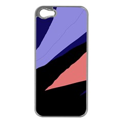 Purple And Pink Abstraction Apple Iphone 5 Case (silver) by Valentinaart