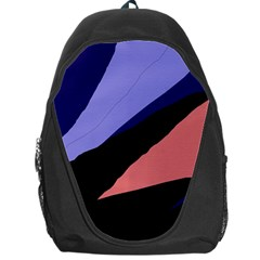 Purple And Pink Abstraction Backpack Bag by Valentinaart