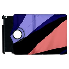 Purple And Pink Abstraction Apple Ipad 3/4 Flip 360 Case by Valentinaart