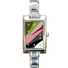 Colorful Abstraction Rectangle Italian Charm Watch by Valentinaart