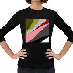 Colorful Abstraction Women s Long Sleeve Dark T Shirts by Valentinaart