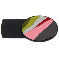 Colorful Abstraction Usb Flash Drive Oval (4 Gb)  by Valentinaart