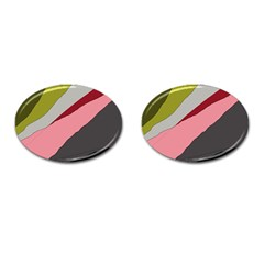 Colorful Abstraction Cufflinks (oval) by Valentinaart