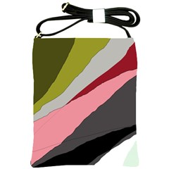 Colorful Abstraction Shoulder Sling Bags by Valentinaart