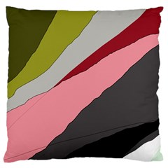 Colorful Abstraction Large Cushion Case (two Sides) by Valentinaart