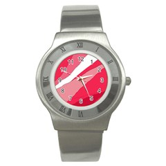 Pink Abstraction Stainless Steel Watch by Valentinaart