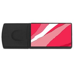 Pink Abstraction Usb Flash Drive Rectangular (4 Gb)  by Valentinaart