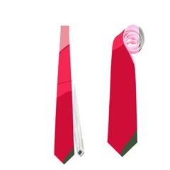 Pink Abstraction Neckties (one Side)  by Valentinaart