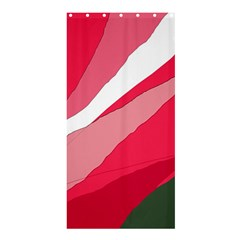 Pink Abstraction Shower Curtain 36  X 72  (stall)  by Valentinaart