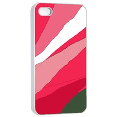 Pink Abstraction Apple Iphone 4/4s Seamless Case (white) by Valentinaart