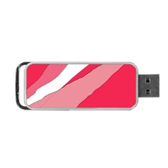 Pink Abstraction Portable Usb Flash (two Sides) by Valentinaart