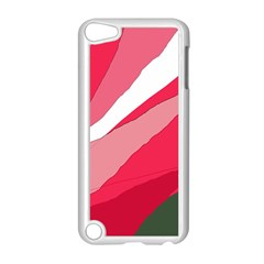 Pink Abstraction Apple Ipod Touch 5 Case (white) by Valentinaart